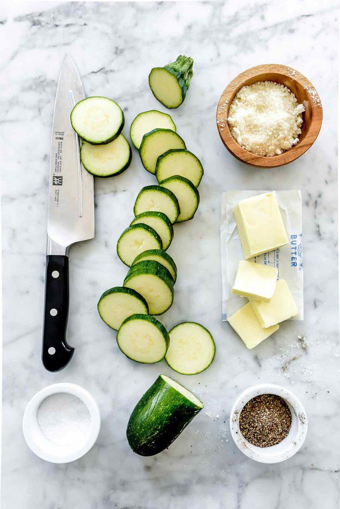 Easy 5-Minute Parmesan Zucchini | foodiecrush.com