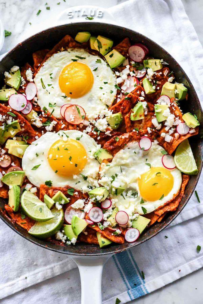 Easy Chilaquiles and Eggs Recipe  foodiecrushcom