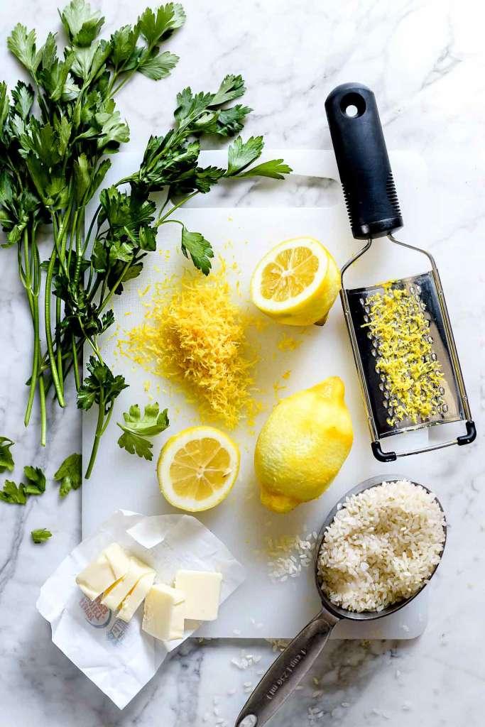 Lemon Rice Recipe | foodiecrush.com #white #rice #lemon #side #recipes