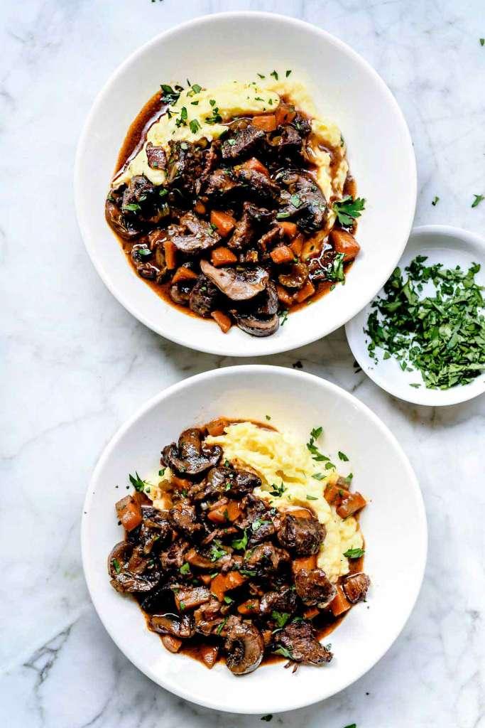 Beef Bourguignon | foodiecrush.com #recipes #easy #beef #bourguignon #stew #french