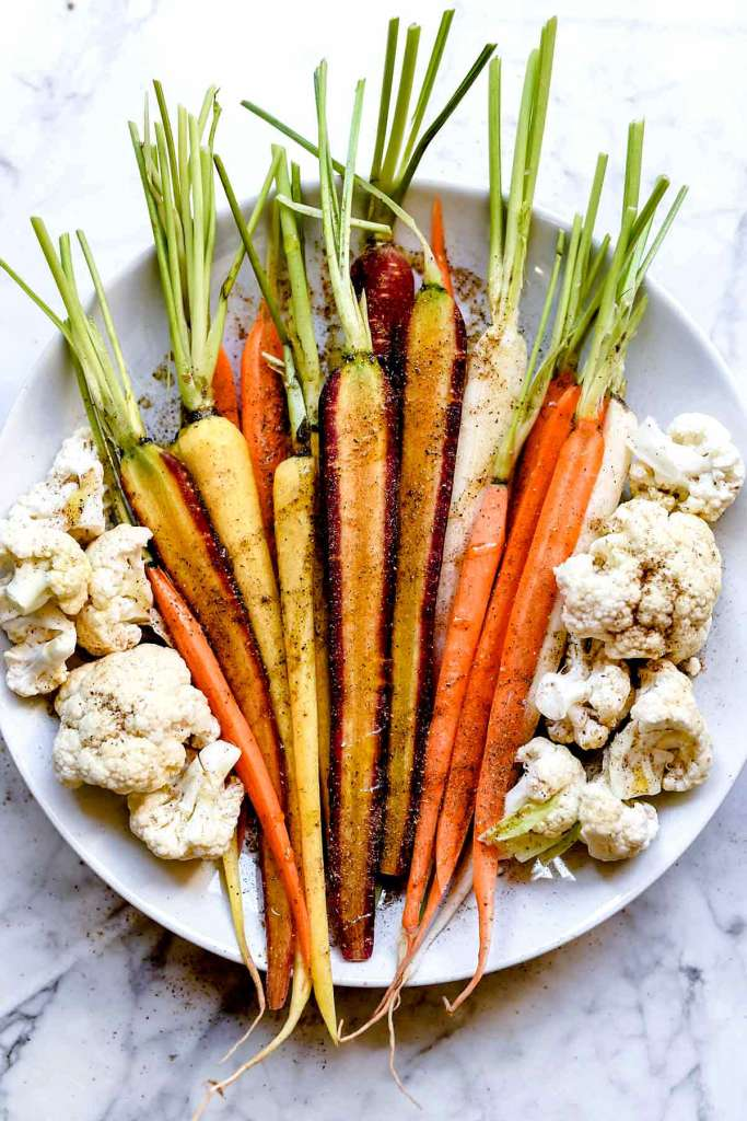Indian spiced carrots and cauliflower | foodiecrush.com