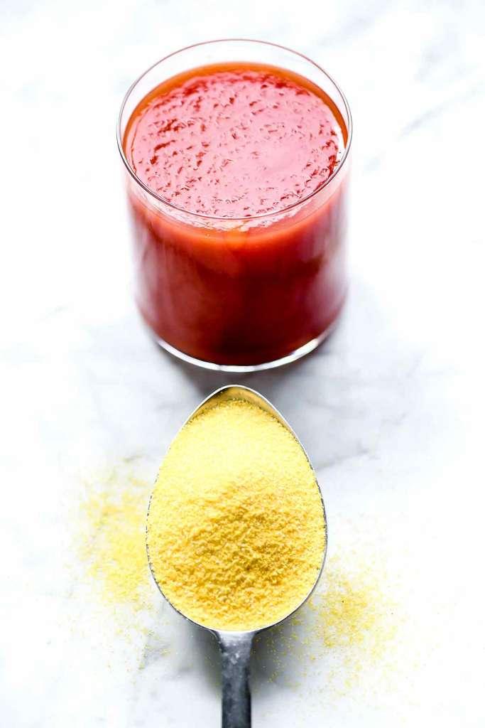 Tomato Juice and Cornmeal   foodiecrush.com