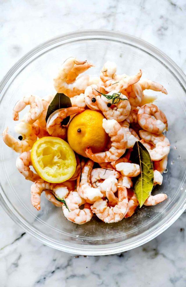 Poached shrimp | foodiecrush.com