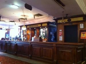 Corona bar serving area