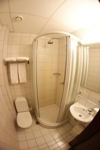 Shower Room Hotel Cabin, Reykjavik, Iceland © Food and Drink Glasgow Blog