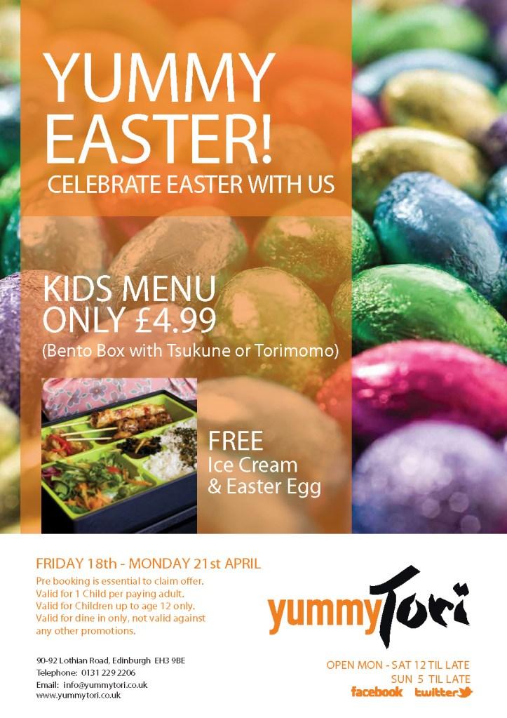 YummyTori Edinburgh Easter Food and drink Glasgow blog