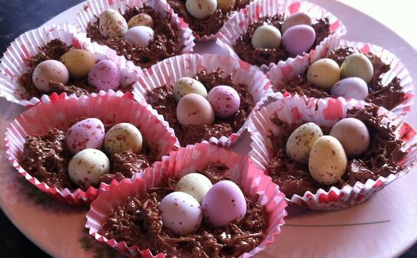 Chocolate Easter Egg Nest Cakes