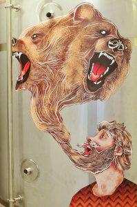 Drygate Brewery - Bearface lager artwork