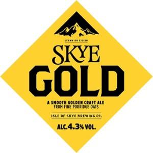 Skye gold Scottish ale beer