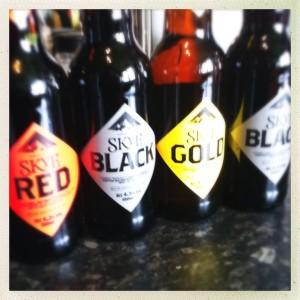 Skye brewing co beers skye red Skye black Skye gold