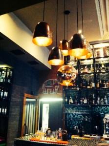 Inside bar Usha's vegetarian restaurant food drink Glasgow blogs