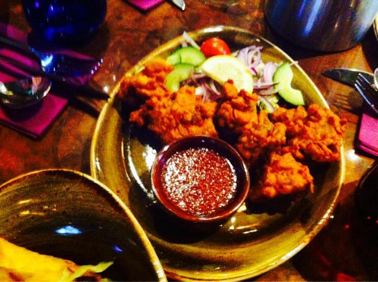Vegetable pakora Usha's vegetarian restaurant food drink Glasgow blog
