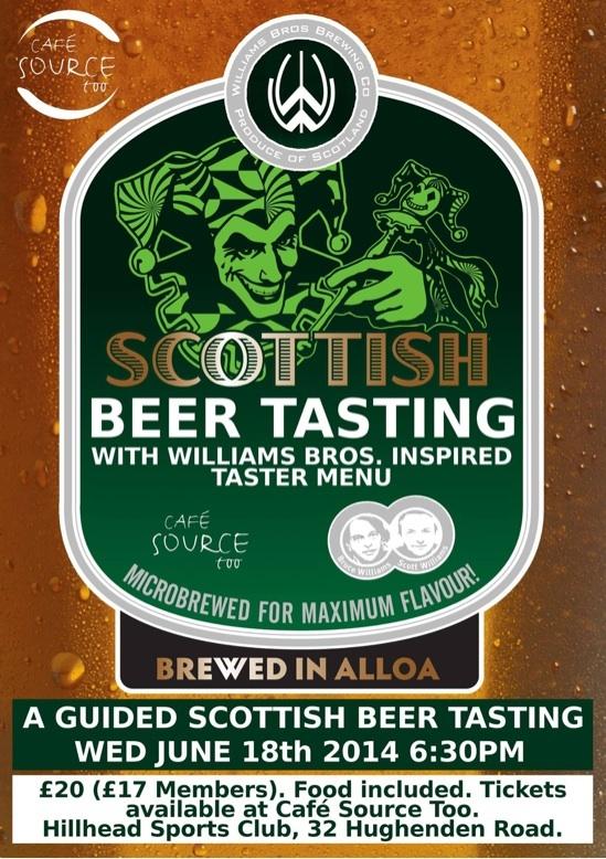 Cafe source too Hillhead William brothers brewery beer tasting food drink Glasgow blog