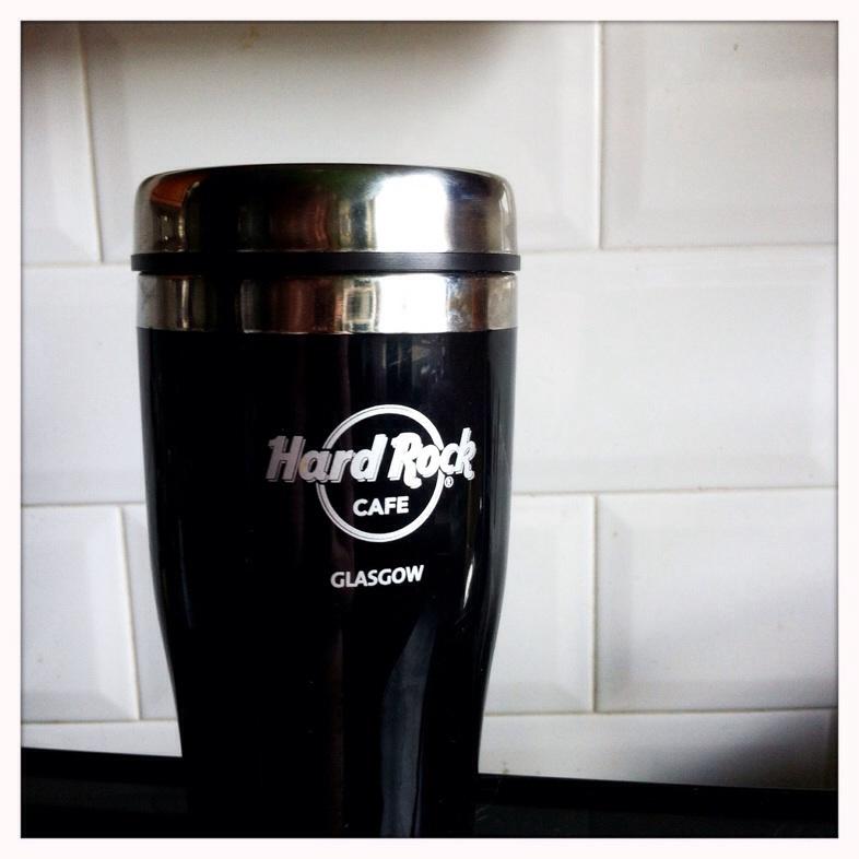 Hard Rock Cafe glasgow travel mug food and drink Glasgow blog