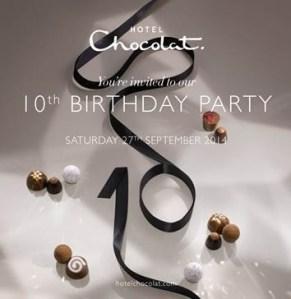 Hotel Chocolat 10th birthday