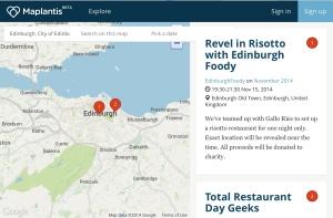 Restaurant day global food Edinburgh event
