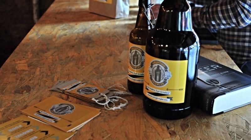 Grunting growler pop up beer seller Glasgow