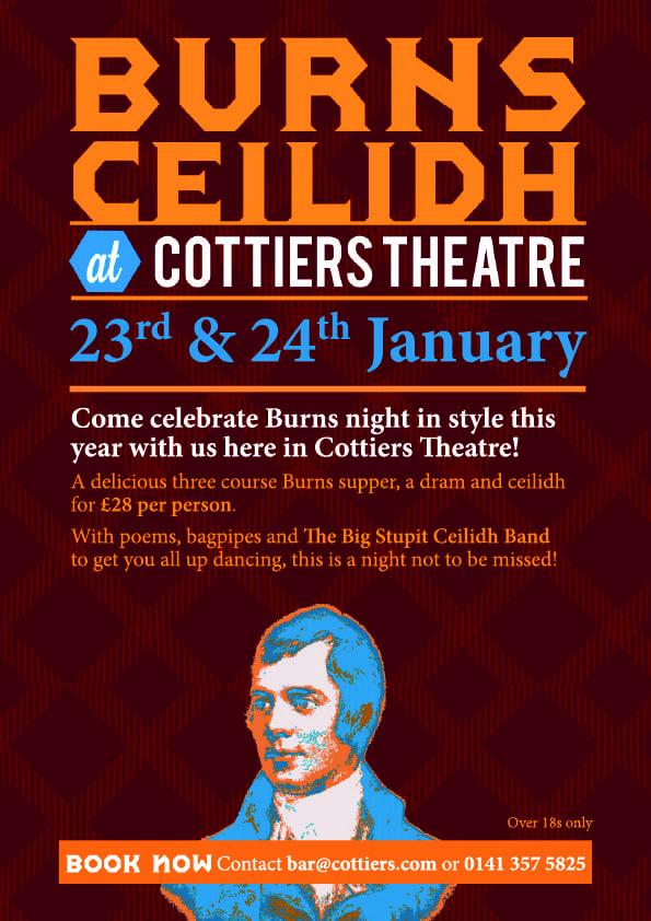 Burns night ceilidh Cottiers Glasgow
