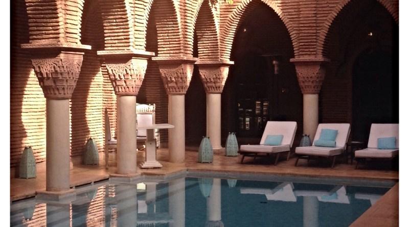 Outdoor pool la sultana hotel Marrakesh Morocco