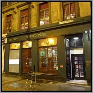 Mother India Westminster terrace west end Glasgow