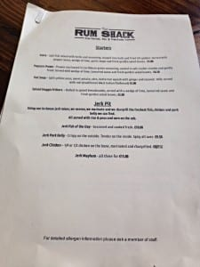 The rum shack Southside Glasgow