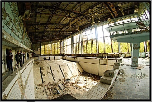swimming pool, pripyat