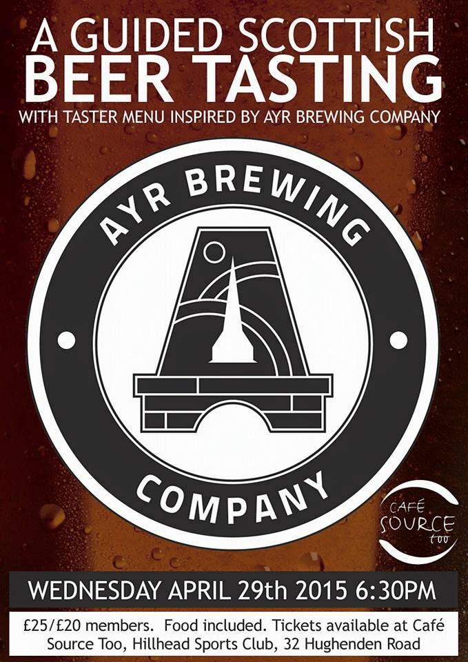 Ayr Brewing Co - beer tasting at Cafe Source Too