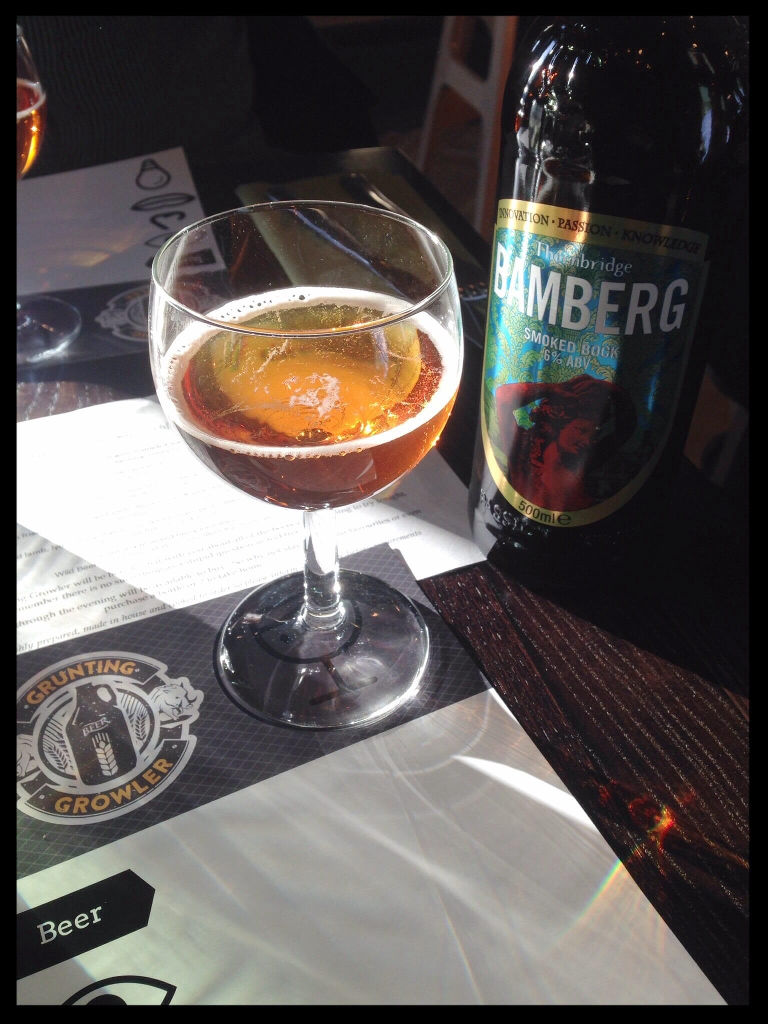 thornbridge bamberg grunting growler glasgow foodie food drink glasgow beer