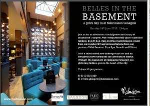 belles in the basement at malmaison