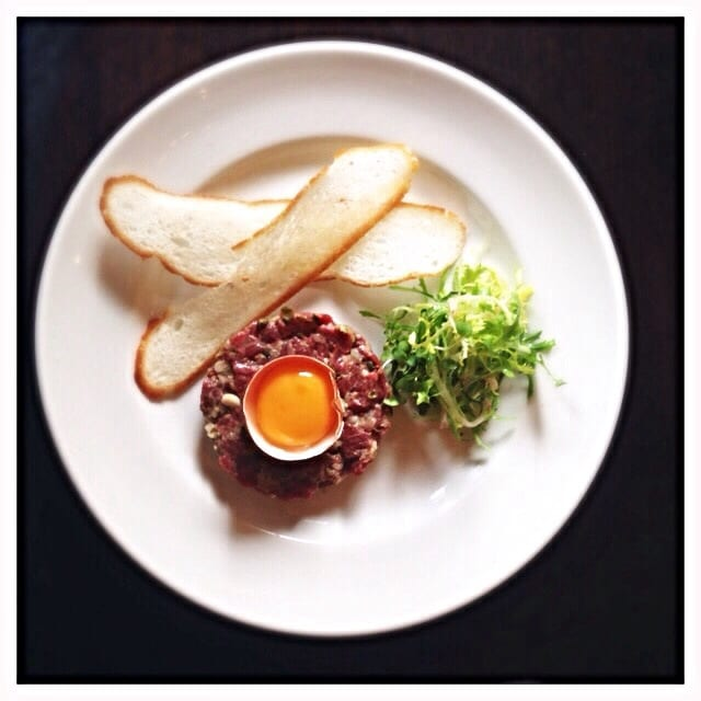 hutchesons glasgow foodie  steak tartare