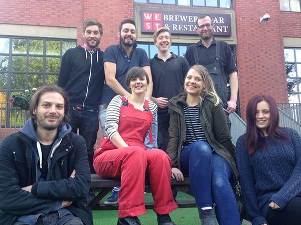 Porter & Rye Team west beer brewery glasgow foodie explorers food travel blog