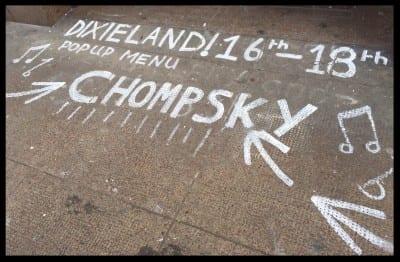 chompsky food pop up dixieland drury street glasgow