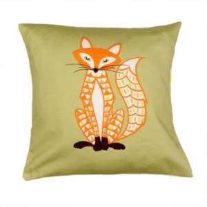 not on the high street fox cushion christmas decor