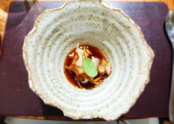 L'enclume - Broth of artichoke, Westcombe, hen of the woods