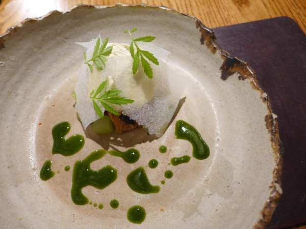 L'enclume - Woodruff, apple, sorrel and yoghurt