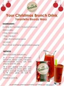 Christmas cocktail Bloody Mary recipe