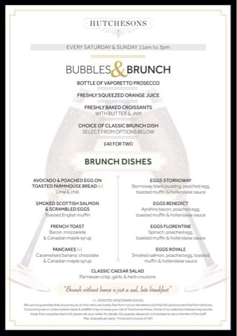 hutchesons bubbles and brunch