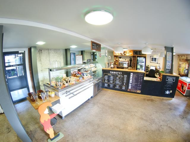 YHA Berwick - reception and shop area