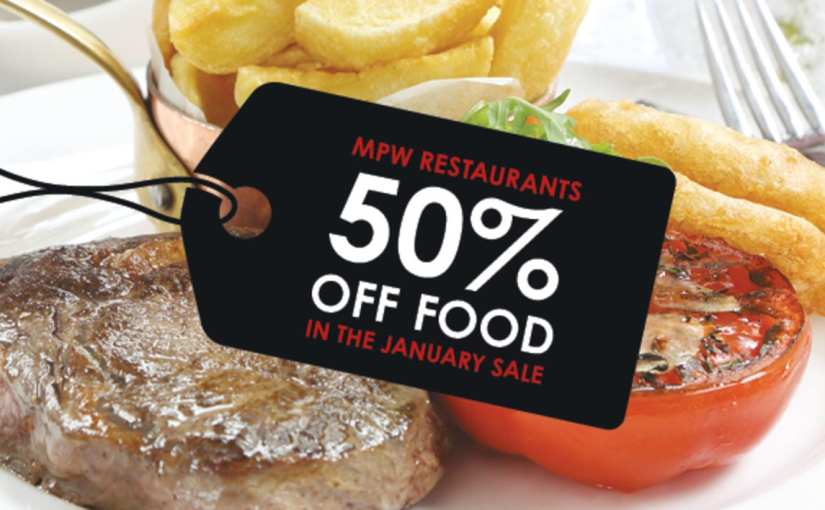 50% off food at Marco Pierre White