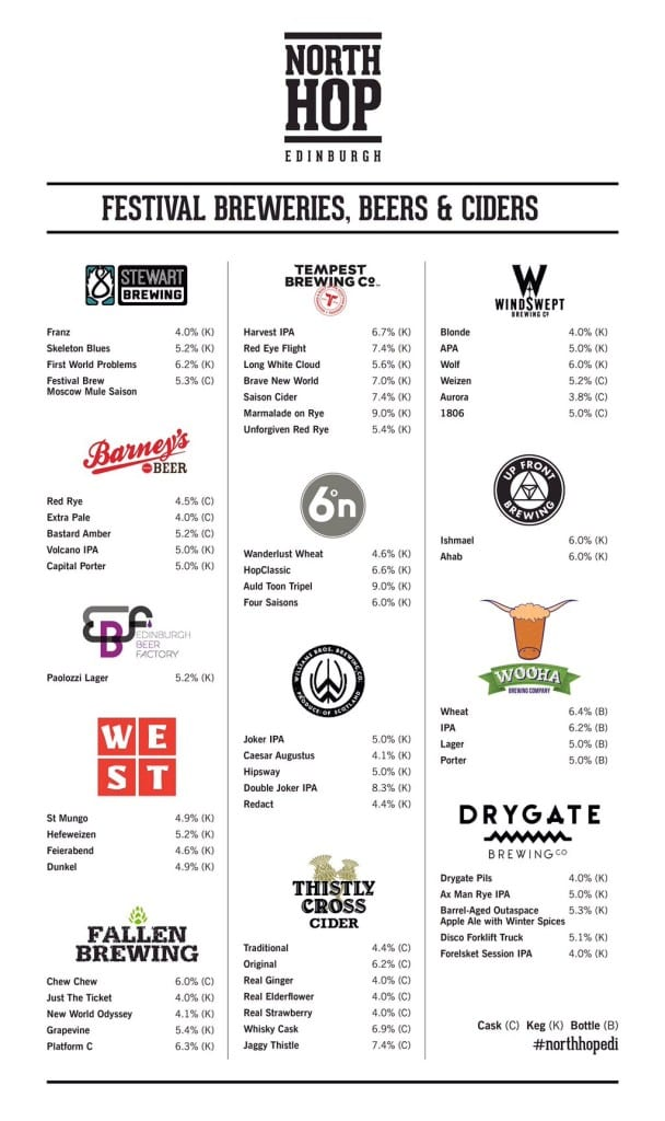 North_hop_edinburgh_beer_list