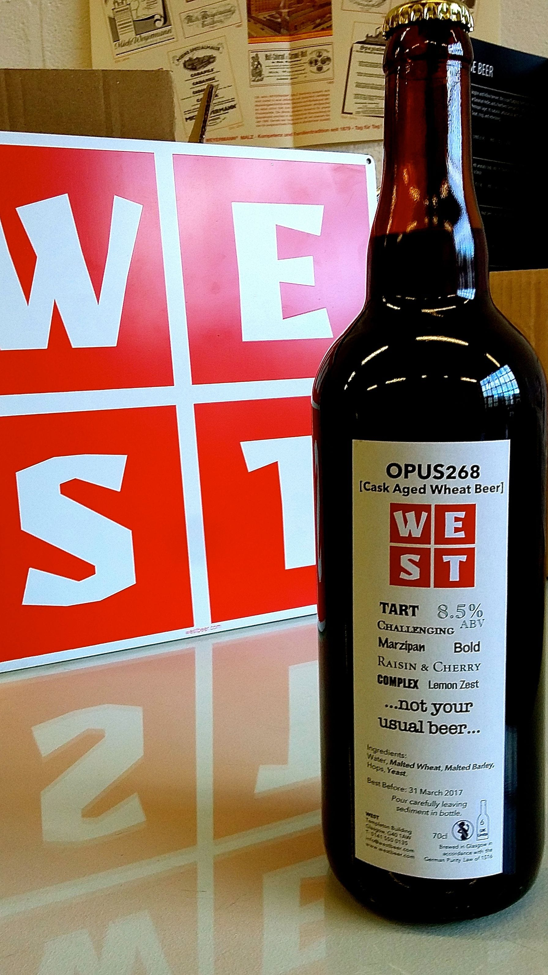 Opus268 bottle WEST brewery beer