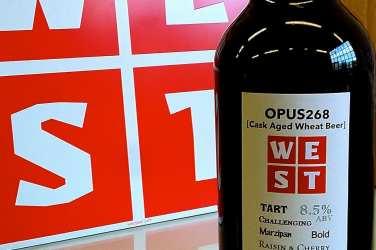 Opus268 bottle WEST brewery beer