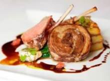 Recipe: Lamb confit and potato gateau with roast rack of lamb