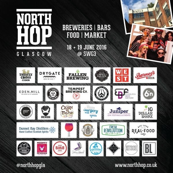 North hop Glasgow brewery beer list