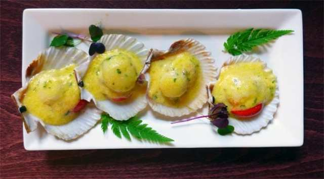 No 11 Brunswick St - Grilled queen scallops