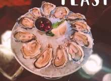 Oysters at The 158 Cafe Bar at Hutchesons Bar and Grill, Glasgow