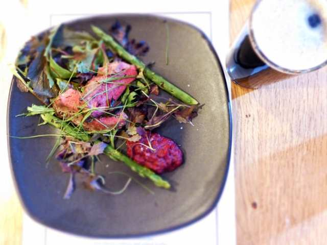 Seared wood pigeon