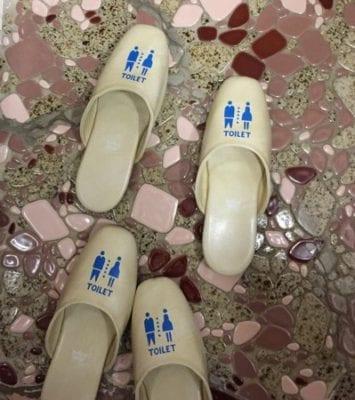 Toilet slippers Yudanaka Shimaya ryokan hotel Japan