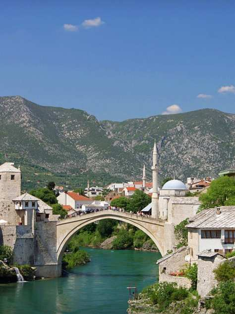 Start most Mostar Bosnia and Herzegovina Yugoslavia