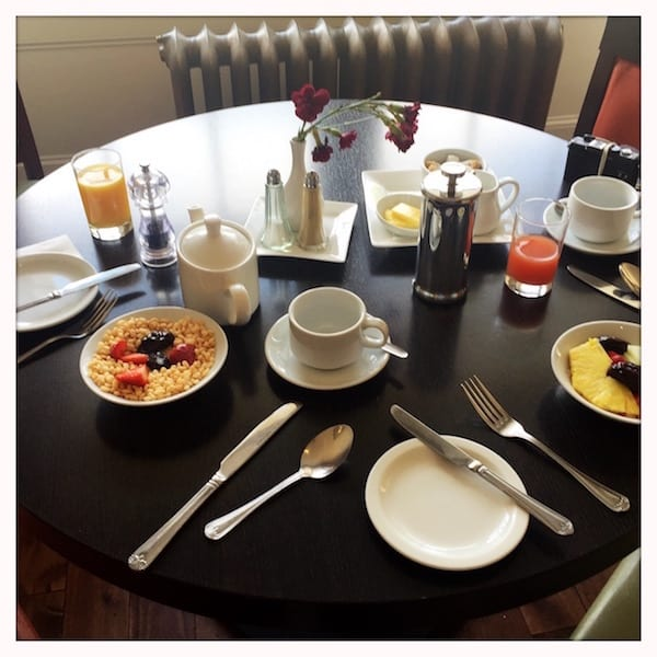 Atholl Arms Dunkeld breakfast table